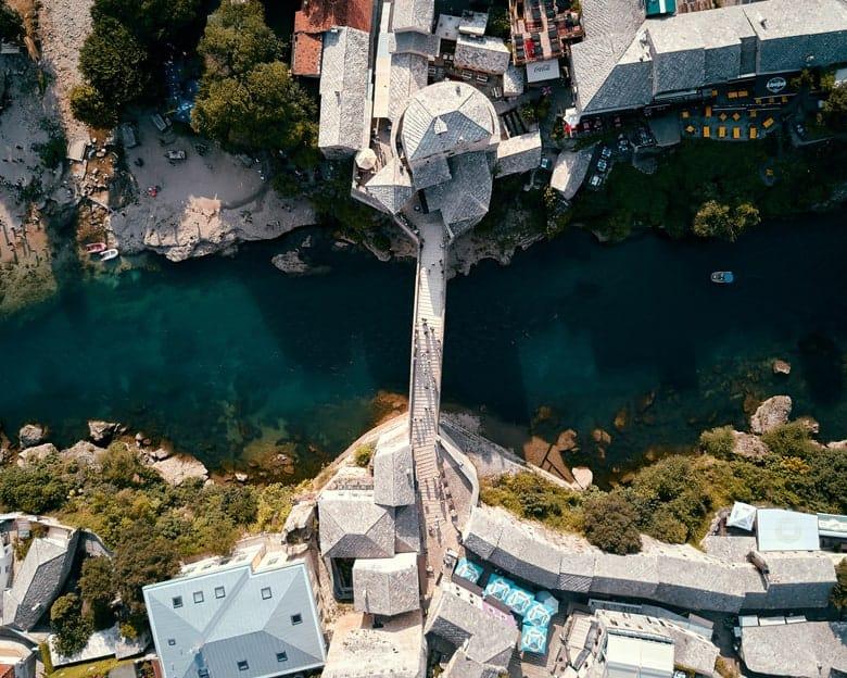 Stari most odozgo